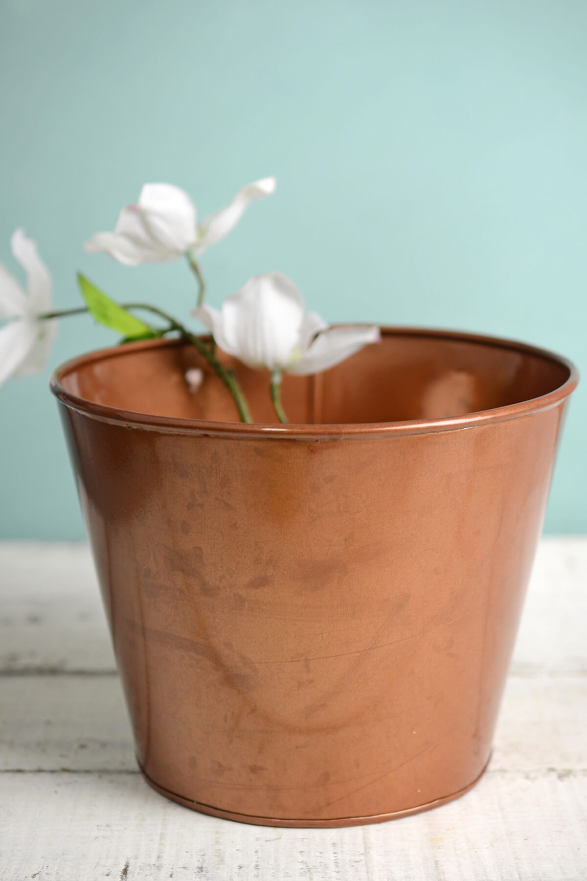 "6"" Pink Copper Bucket Vase"