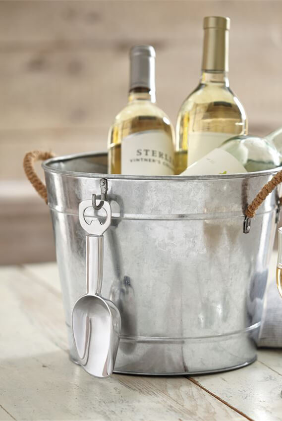 3 In 1 Galvanized Ice Bucket Set