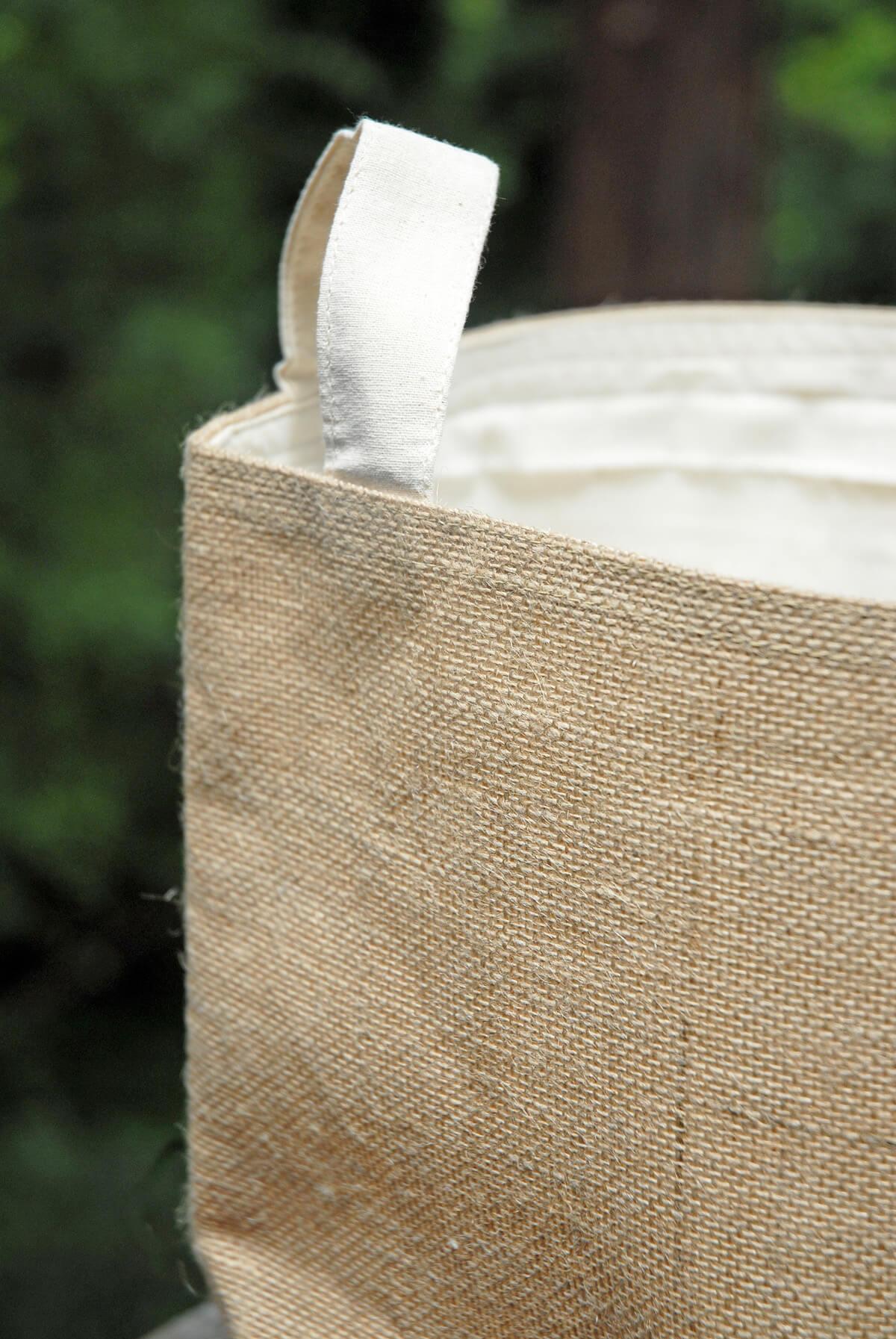 Burlap storage bag 13x11 for Save on crafts burlap
