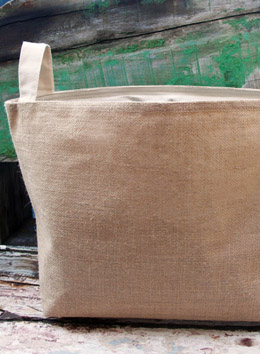 Burlap  Storage Bag 13x11