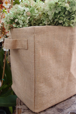 "6 Burlap Storage Bags, Gift Basket Bag 9"""