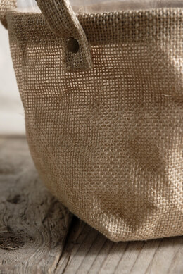 Burlap Bag w/Handles and Liner 7.5in