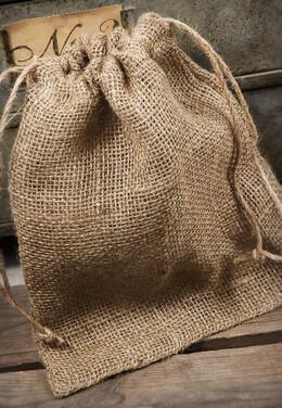 10 Burlap Bags 10x12