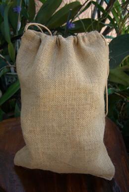 12 Large 10x14 Drawstring Burlap Bags