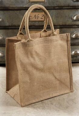 6 Burlap Gift Tote Bags 12 x 12