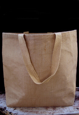 "Large 20"" Burlap Tote Bags with Handles"