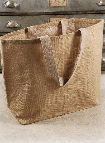 Burlap 22 Quot Beach Tote Bag Cotton Lining