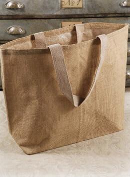 "Burlap 22"" Beach Tote Bag, Cotton Lining"