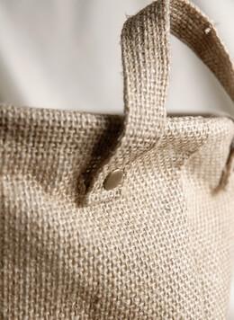 Burlap Bag w/Handles and Liner 9x9