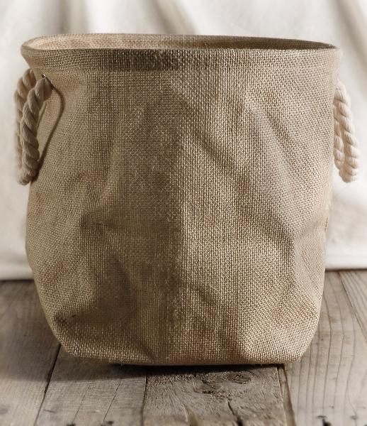 Burlap Bag 11x11 Rope Handles