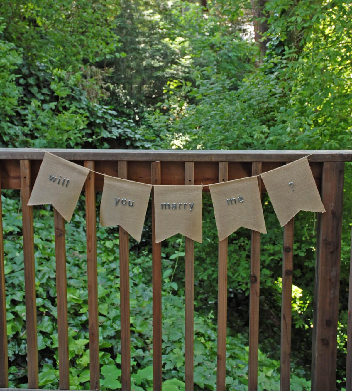 Burlap Swallow Tail Banner (5 Pennants)