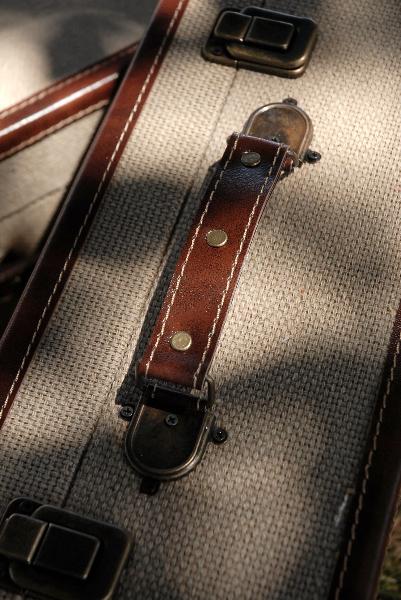 Burlap Canvas Luggage Set (Set of 2) Prop Luggage