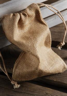 12 Burlap Favor Bags  5x7