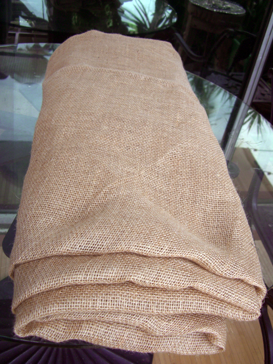 Square Burlap Table Cloth Hemmed 80 X 80