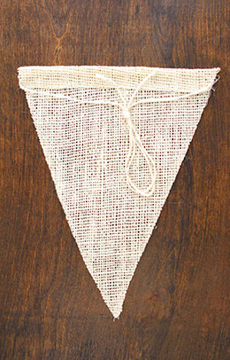 Burlap Pennants Ivory 8x10in (Pack of 12)