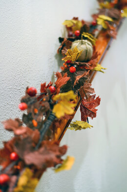 "Handmade Burlap Pumpkin Garland 60"""