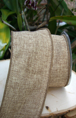 Wired Burlap Ribbon 3in x 10 yards