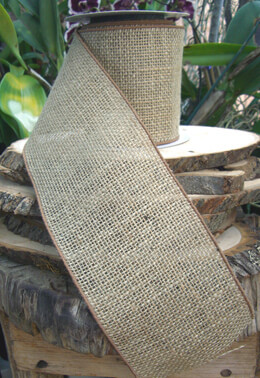 Wired Burlap Ribbon 5in x 10yds