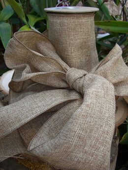 Natural Soft Burlap Ribbon 6in x 10yds Wired