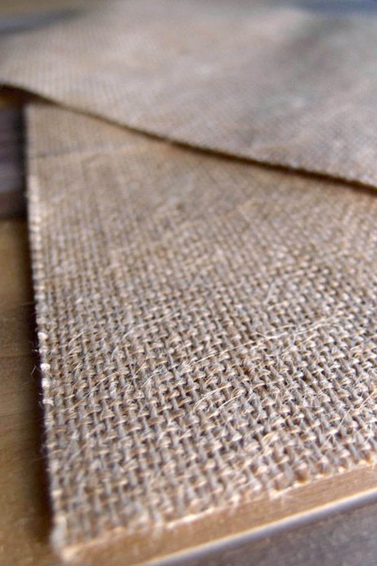 6 Burlap Laminated Craft Sheets   8.5x 11