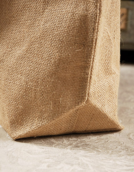 Large 24 Quot Burlap Tote Bag Cotton Lining