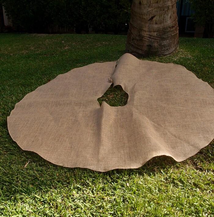 burlap tree skirt 60in