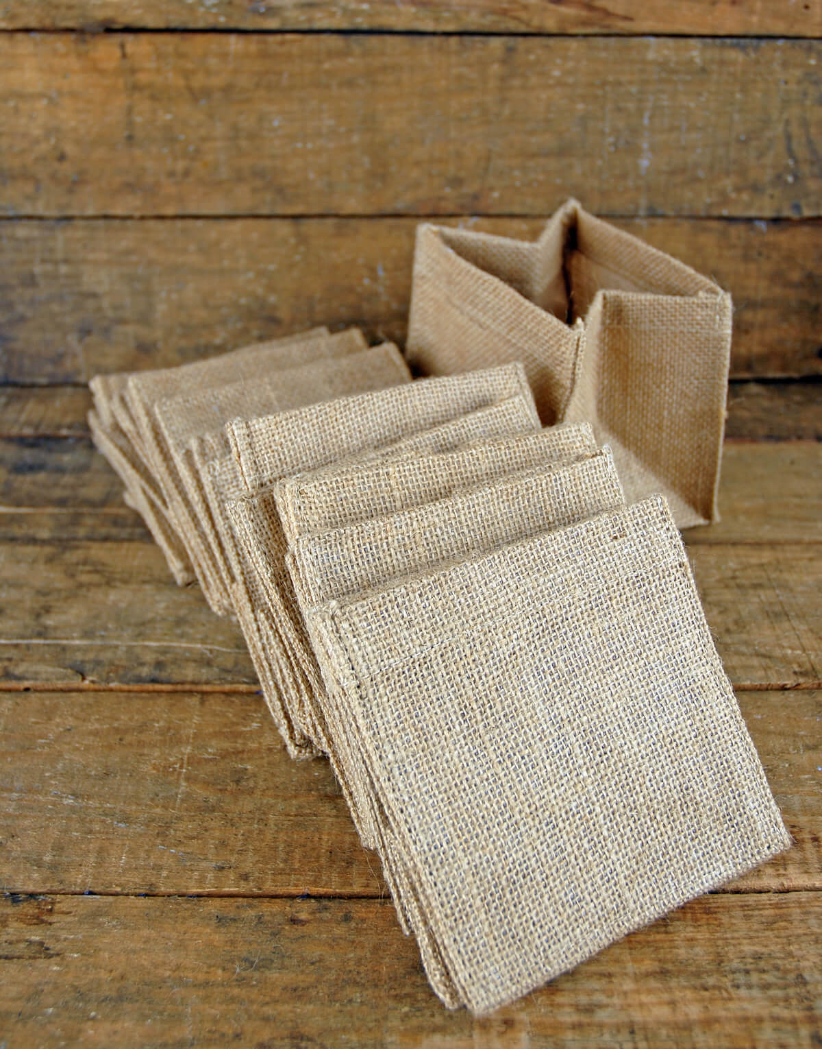 12 burlap pot covers 5 u0026quot  square