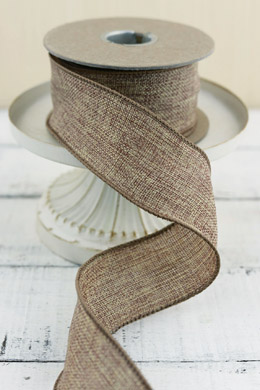 Burlap Ribbon Wired 2in x 10yds