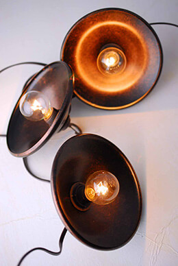 Bronze Metal Covered String Lights Set of 10 G40 Lights 14.75 FT