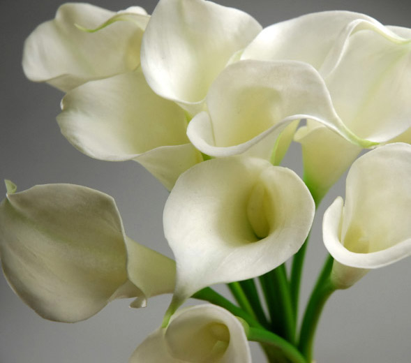 calla lily bouquet natural touch 14quot tall
