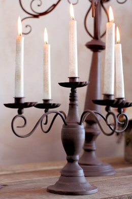 "La Fattoria Candelabra 16""x 11"" , 5 Arm, Brown Metal"
