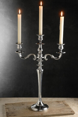 "Large Silver 20"" Candelabras - Event Decor"