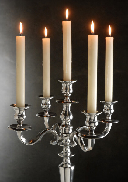 24 Tall Silver Candelabra 5 Candle