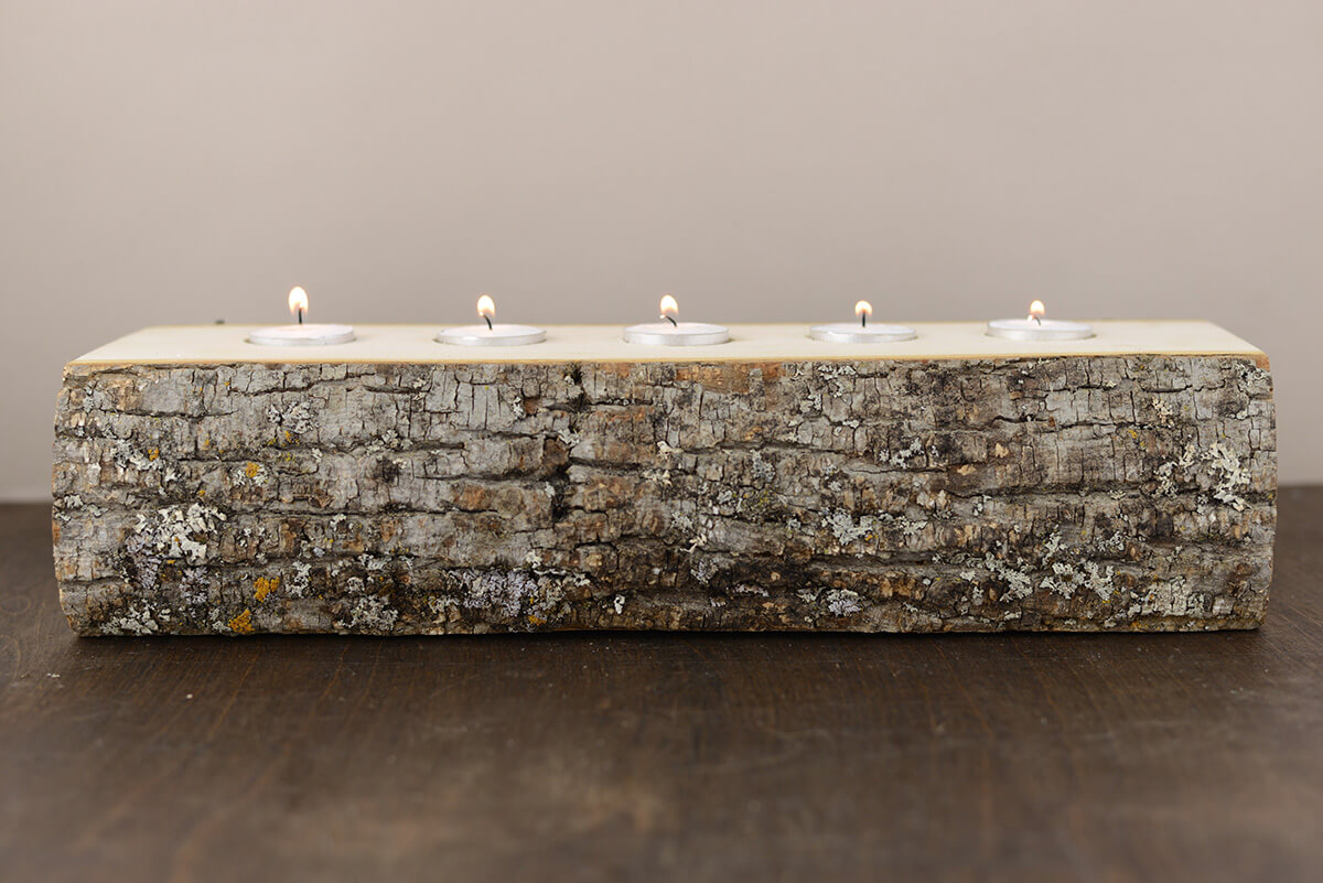Candle Holder Log (5 Tealights)