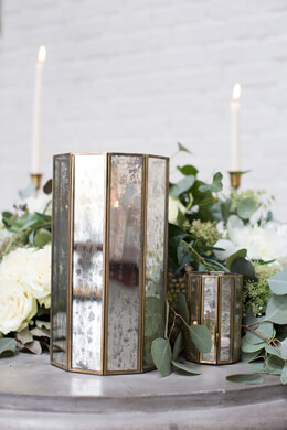 Glass Paneled 10.5in Virtue Candleholder