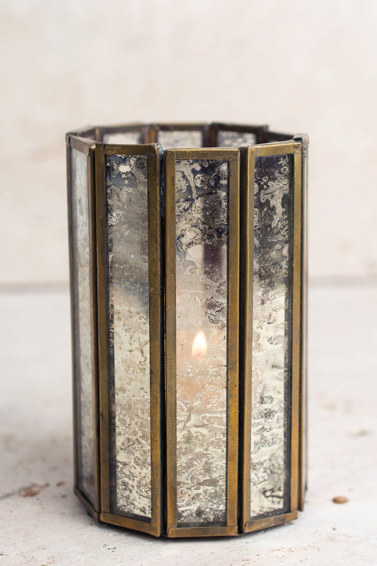 Glass Paneled 4.5in Virtue Candleholders