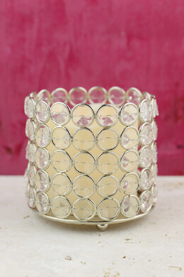 Battery Operated LED Candle with Crystal Candle Holder 4x4