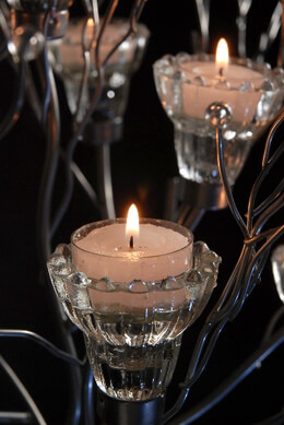 2 Silver Branched Wedding Event Candle Trees 43in