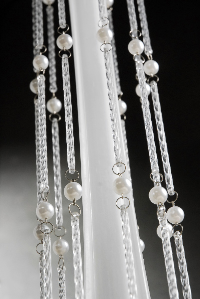 Hanging Pearl and Crystal Bobeche 20 in.