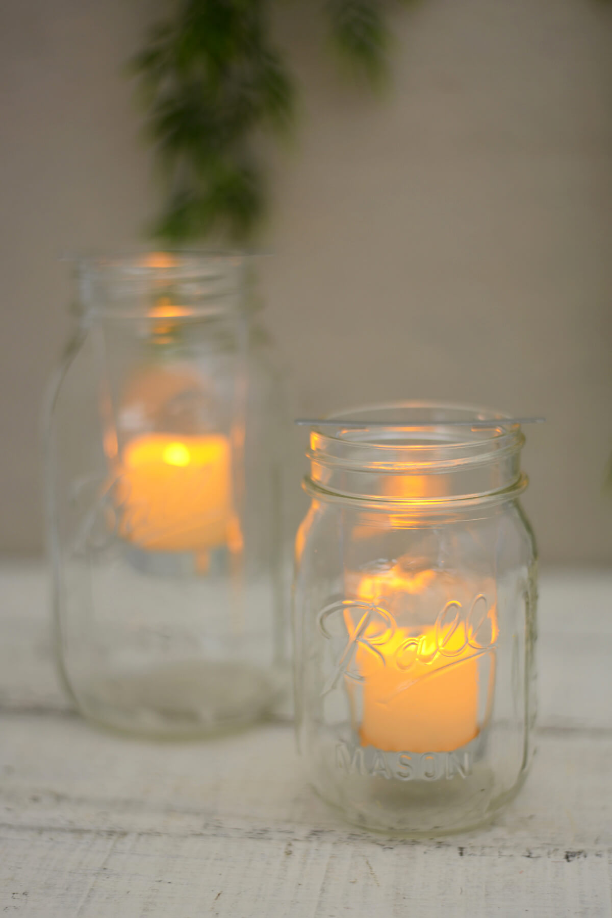 2 Mason Jar Battery Operated Votive Candles Amp Holders With