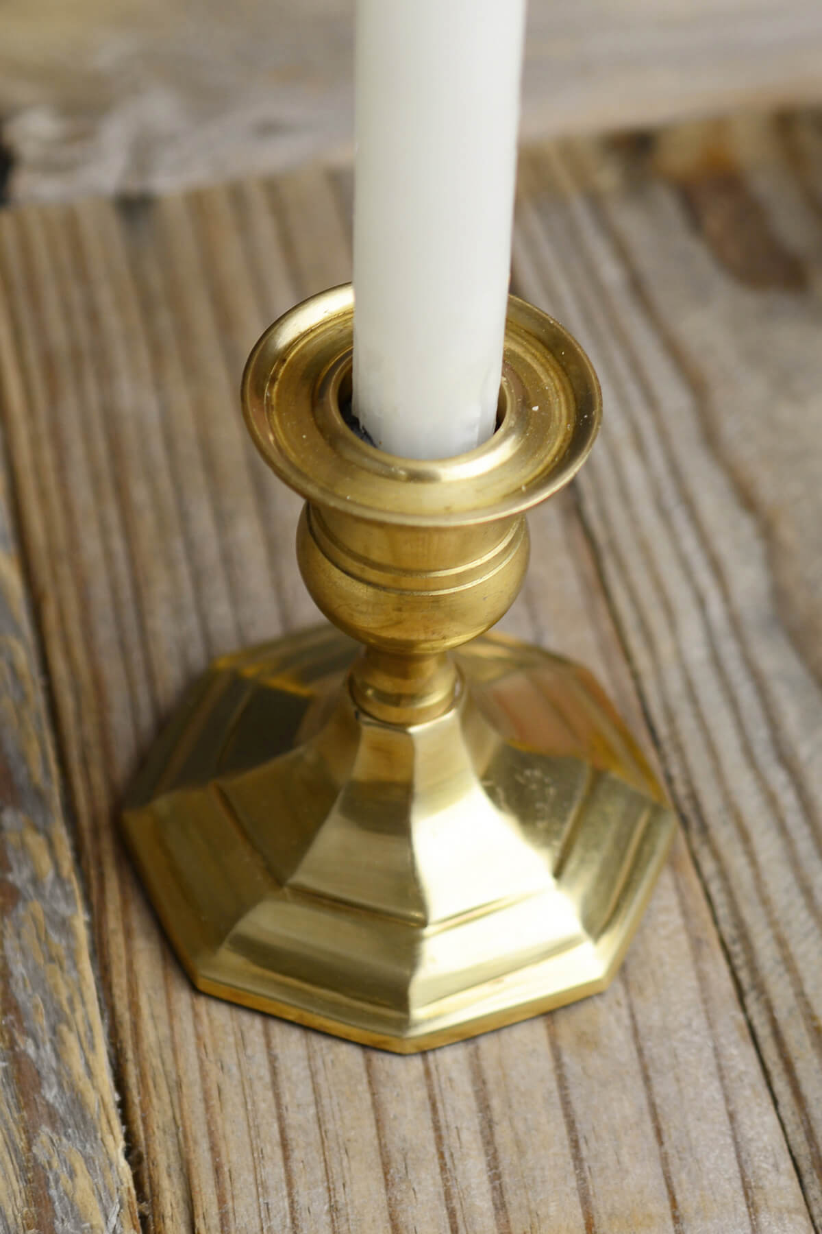 Gold Metal 3 Quot Taper Candle Holder Antique Candlestick