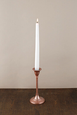 Candlestick Rose Gold 7in