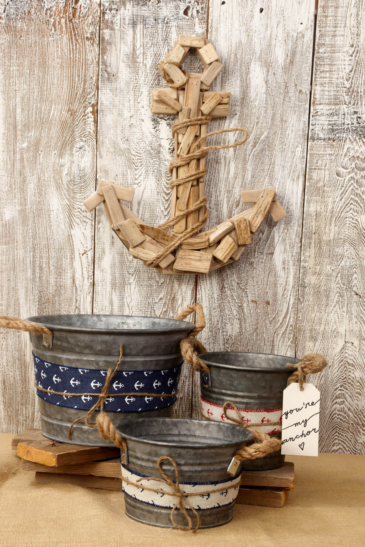 6in galvanized bucket with rope handles for How to decorate a bucket