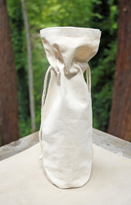 Canvas Wine Bottle Gift Bags  (Set of 5)