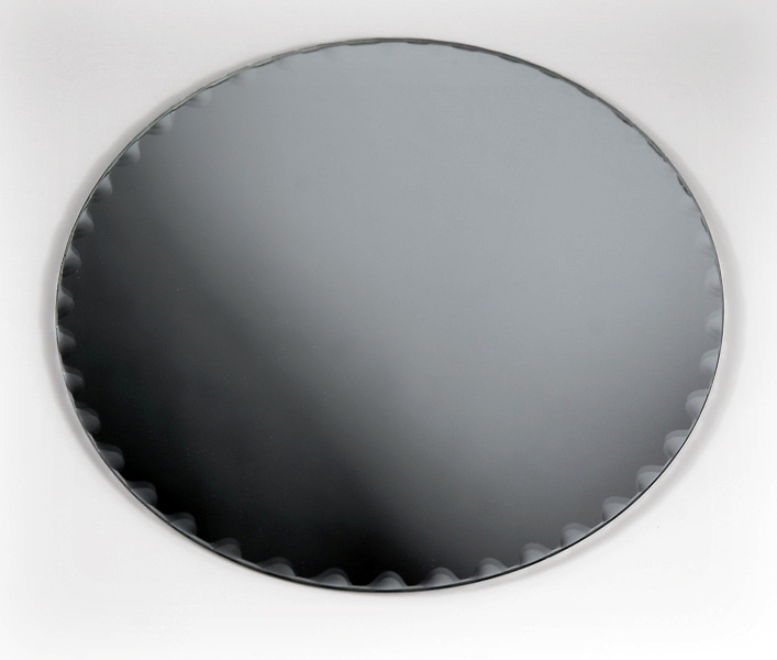 Six 8 Quot Round Glass Table Mirrors With Scalloped Edges