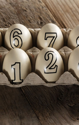 Numbered Eggs 1-10 Resin Table Numbers