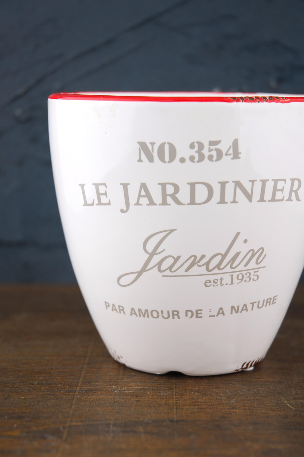 Ceramic Vase Round White 5.25in