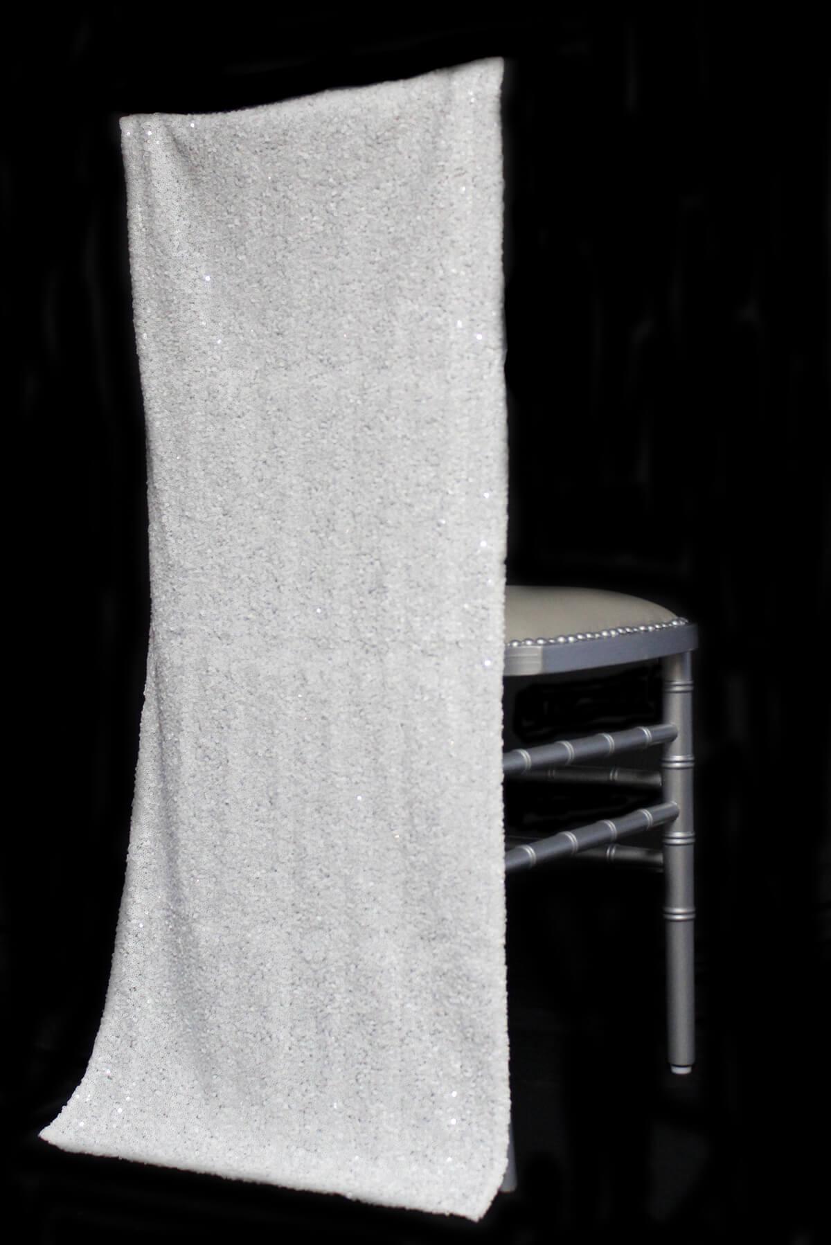 Chiavari Chair Covers -White Sequins