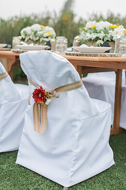 Wedding Chair Cover Cotton White Folding Chair Cover