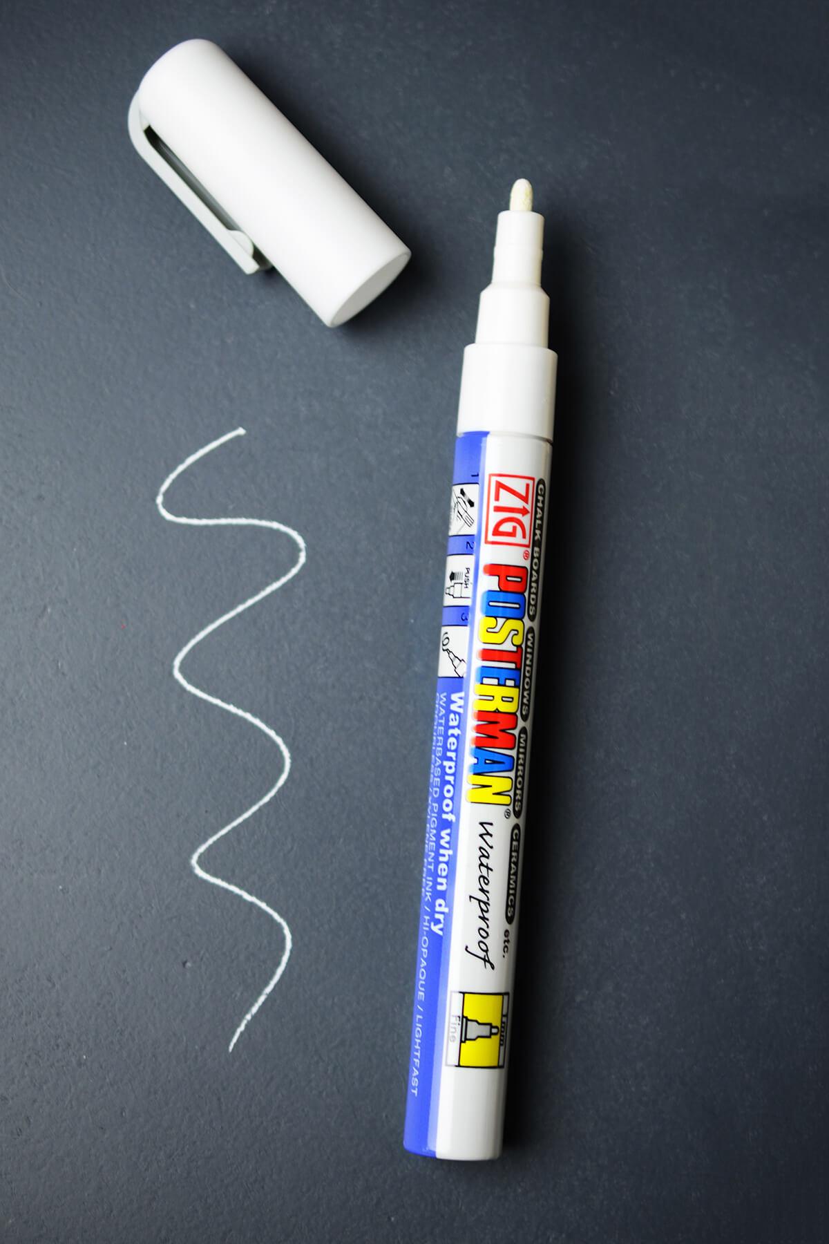 Chalk Marker 1 0 Fine Tip White